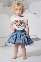 Little Wings by Paper Wings Adorable Hi Lo Skirt w/Hearts  4