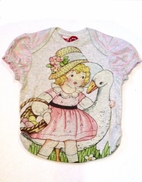 Little Wings Organic Cotton Girl & a Goose Toddler Tee 3 4