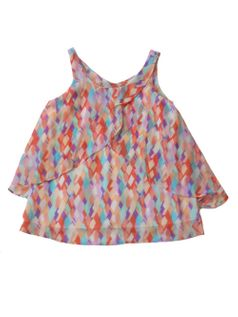Love Daisy by Kiddo Fun Printed Layered Chiffon Top 10 12