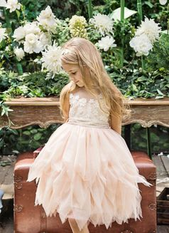 Luna Luna Collection Marzipan Daisy Tulle Peach Dress  24m 2T