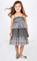 Luna Luna Copenhagen Exquisite Grey Tulle Girls Party Dress  2T 3T 5/6