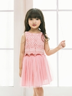 Luna Luna Joey Peony Pink Lace 2pc Girls Skirt Set 4T 6 8 12