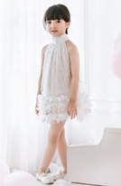 Luna Luna Lucy in the Skies Ivory Tulle & Pearls  Dress 7