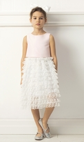 Mam Luma Pink & Ivory Lace Skirt Wedding Dress 7/8 9/10