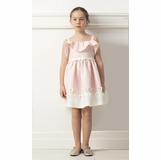 a8f256e65 Mama Luma Blossoming Grace Cold Shoulder Pink/Ivory Little Girls Dress