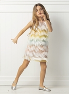 Mama Luma Super Fun Fringe Girls Dancing Queen Hera Dress 3/4