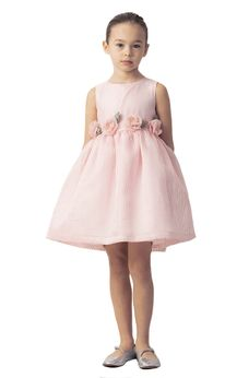 Mama Luma Sweet & Elegant Baby Doll Little Girls Dress w/Rosettes