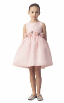 Mama Luma Sweet & Elegant Little Girls Dress w/Rosettes