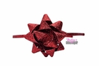 Melina's Bowtique Red Glitter Gift Box Bow Headband Christmas