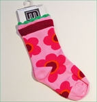 Melton Danish Design Adorable Pink Flower Power Socks