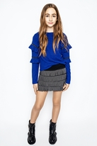 Mia New York 2pc Cobalt Blue Sweater & Fringe Skirt 10 Last 1