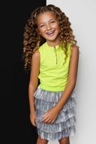 Mia New York 2pc Neon Tank & Silver Fringe Skirt Set