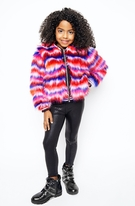 Mia New York Electric Fur Fun Faux Fur Jacket 7/8 Last 1