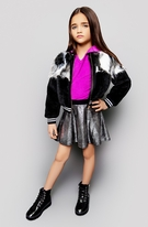 Mia New York Mixed Media faux Fur Girls Bomber Jacket