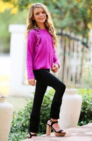 Mia New York Sequin Girls Hoodie/Sweater Berry 7/8