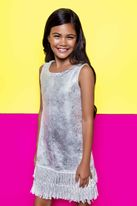 Mia New York Summer Fringe Silver Girls Dress *Top Seller*
