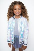 Mia NY Girls Silver Sequin Star Bomber Spring Fall 7/8 10 14