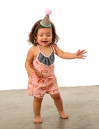 Miki Miette 1pc Rainbow Infant Toddler & Little Girls Birthday Romper 18m 24m 3t 6