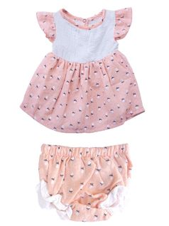 Miki Miette Spring Blush 2pc Infant Girls Dress w/Bloomers