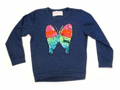 MIM-PI Fun Colorful Sequined Butterfly Long Sleeves T-Shirt 10