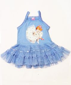 MIM-PI Irresistable Baby Girl Dress w/Tulle Skirt 6m 9m