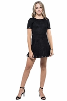Miss Behave Brandy Faux Suede Black tween Girls Dress