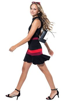 Miss Behave Classy Tween Girls Harriet Dress Black Red