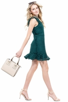 Miss Behave Emerald lace Girls Holiday Dress