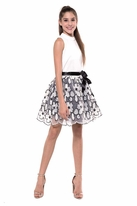 Miss Behave Tween Girls Ivory & Black Grace Dress 12 last 1