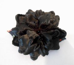 Moxie & Mabel Charcoal Black Hair Flower