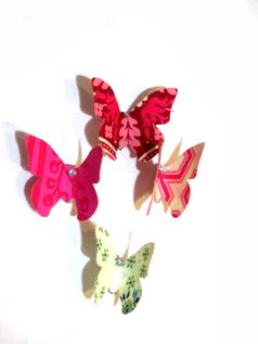 Moxie & Mabel Set of Hand made Butterfly Pins