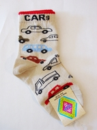 MP Adorable Cream Boy's Socks w/Cars