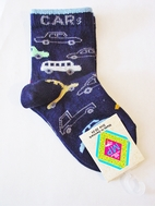 MP Dark Blue Boy's Socks w/cars