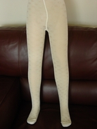 MP Ivory Tactel Tights w/Dot Pattern