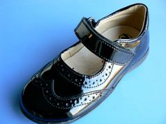 Naturino Black Patent Leather Mary Jane/Dress Shoes 26/9