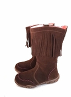 Naturino Must Have Brown Suede Stylish Fringe Boots 27 28