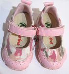 Naturino Our Favorite Pink & Grey Camo Infant Girls Shoes sz 20/4