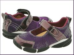 Naturino Purple Sparkly MJ Shoes w/Velkro Baby  sz 20/4inf