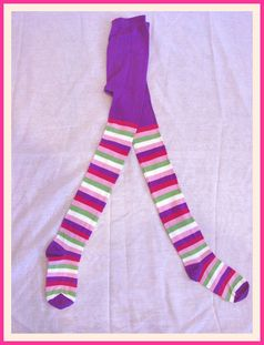 Nowali Colorful Wide Stripe Tights