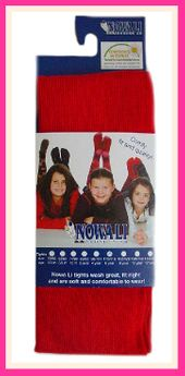 Nowali Solid Bright Red Holiday Tights