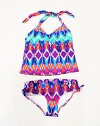 Ondade Mar Mirage 2pc Girls  Fun Ikat Tankini Swimsuit 10 16