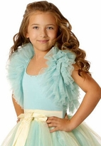Ooh La La Couture Blue Ice Tulle Ruffle Shrug 2T 3T