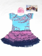 "Ooh La La Couture Blue & Lavender Toile 18"" Doll Dress"