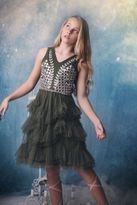 Ooh La La Couture Forest Green Victrorian Bouque Tween Dress