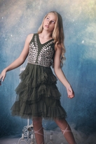 Ooh La La Couture Victorian Bouquet Tween Girls Dress 12 14 Last 2