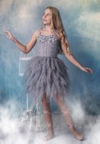 Ooh La La Couture Grey Beaded Tween Girls Petal  Dress