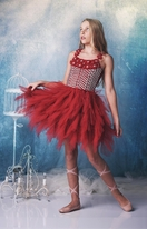 Ooh La La Couture Red Captivating Emma Tween Dance Dress