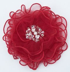 Ooh La La Couture Ruby Red Girls hair Flower