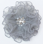 Ooh La La Couture Silver Hair Flower Clip