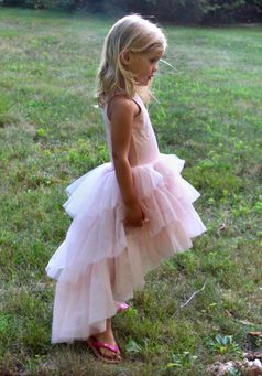 Ooh La La Couture Chloe Heavenly Pink Hi Lo Dress 2T